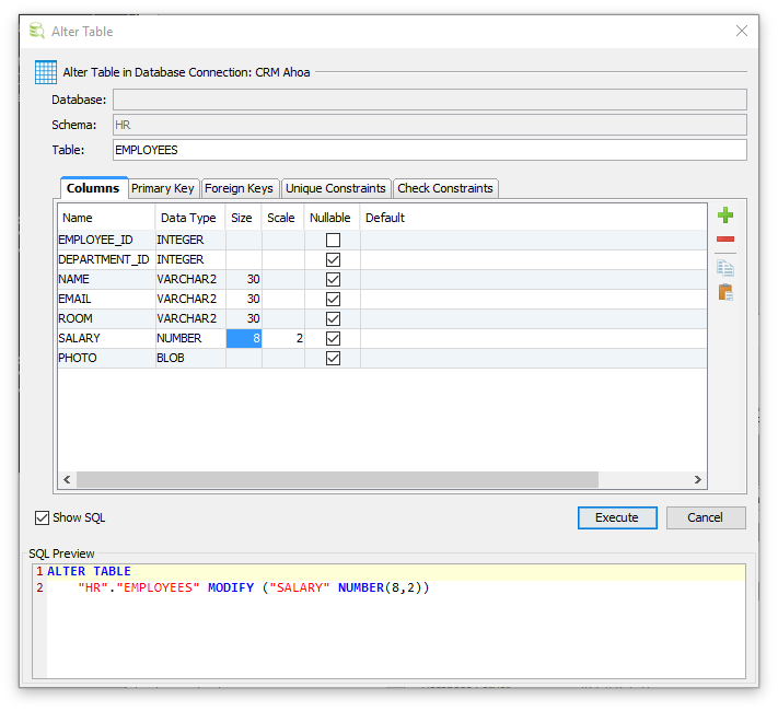 Altering A Table Dbvisualizer 10 0