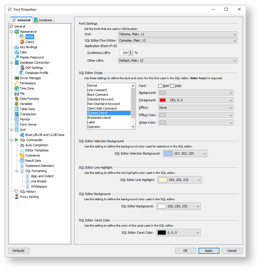 Editing sql scripts dbvisualizer 100 users guide the editor uses the tool properties settings from the sql commandercomments category under the general tab to detect comments biocorpaavc