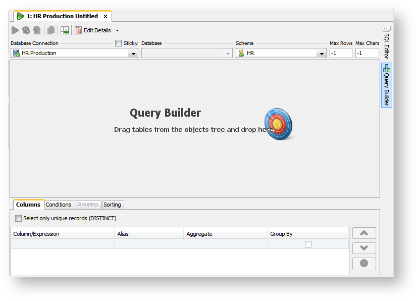 Creating Queries Graphically - DbVisualizer 9 1 Users Guide