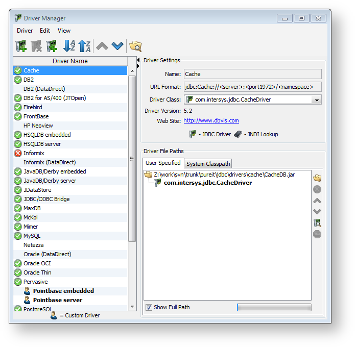 Installing a JDBC Driver - DbVisualizer 9 2 Users Guide
