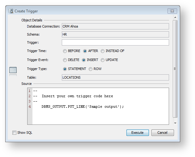 XML element - ObjectsActionDef - DbVisualizer 9 2 Users Guide